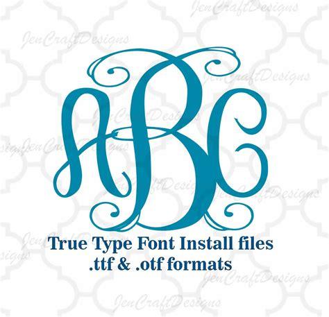 design font truetype classy vine interlocking monogram font in true type format