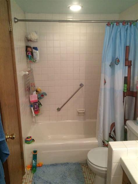 gutting bathroom ugly kids bathroom needs gutting