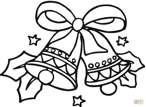Coloring Pages Of Christmas Bells | christmas bells coloring page free printable coloring pages