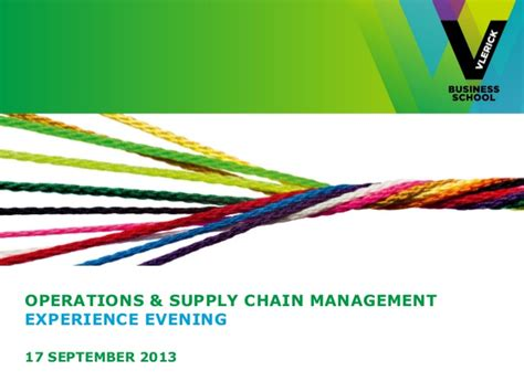 operations supply chain management experience evening