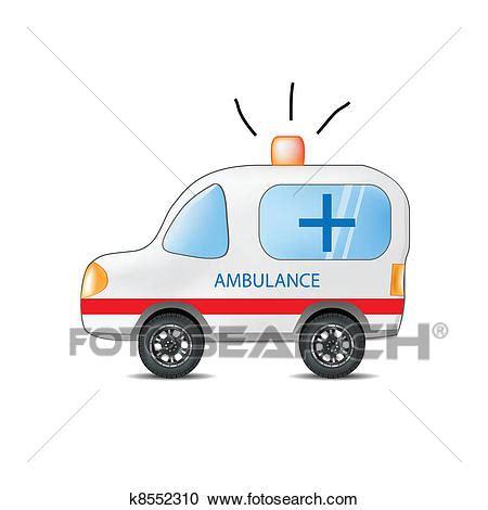 clipart divertenti clipart divertente cartone animato ambulanza k8552310