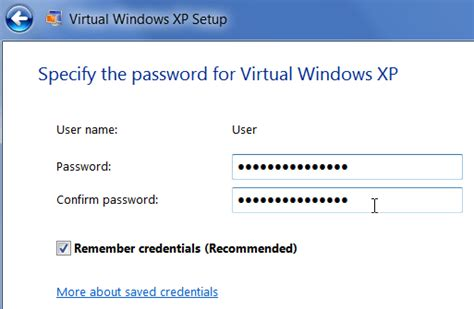 reset password xp virtual machine how to use xp mode in windows 7