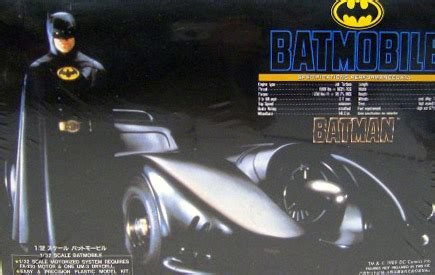 Aoshima Batman Returns 1989 Batmobile 132 Scale Model Kit batman 1989 batmobile modet kit by aoshima misb toys and collectables