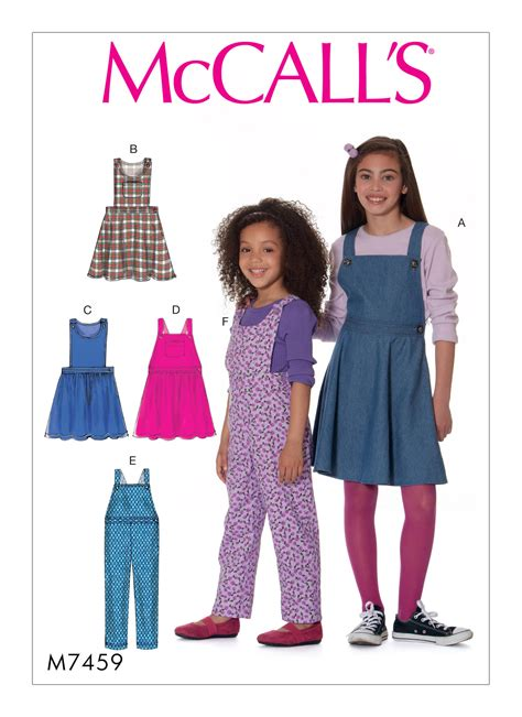 pattern review for mccall s 6564 mccall s 7459 children s girls jumpers and overalls