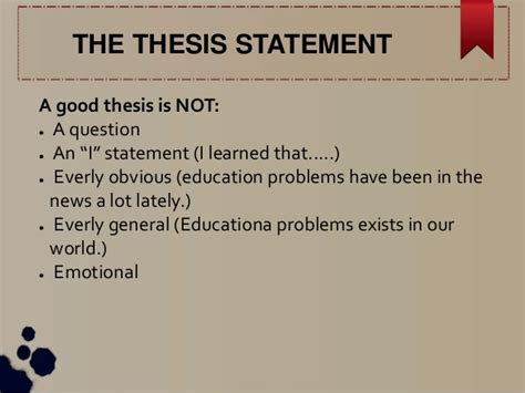 good thesis about education a good thesis statement about education education essays