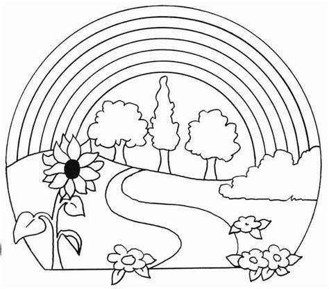 dibujos para pintar web dibujos para imprimir y colorear arcoiris para colorear