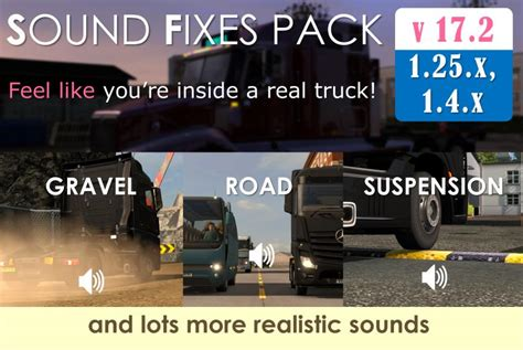 ets2 mod game fixes sound fixes pack v17 2 stable release mod euro truck