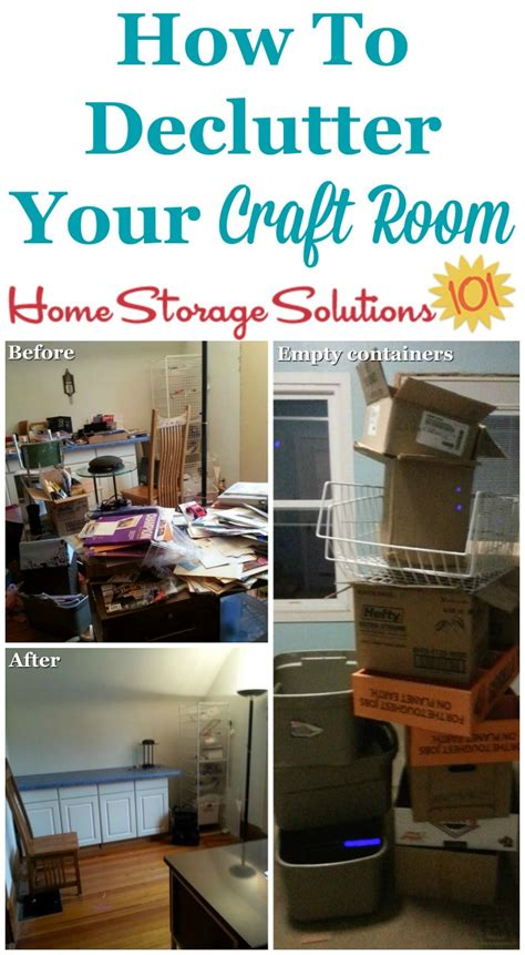 how to declutter your room how to declutter craft room or crafting area