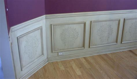 Fancy Wainscoting Wainscot Glazed Stenciled Panels Traditional Atlanta