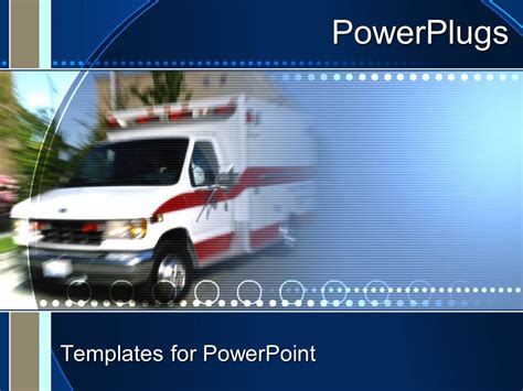 Powerpoint Template An Ambulance With A Greenish Ambulance Powerpoint Template