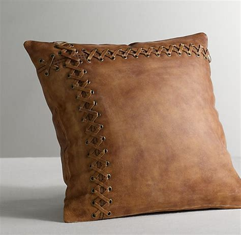 Decorative Pillows - leather catcher s mitt decorative pillow cover insert