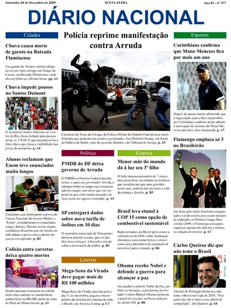Layout De Jornal Online | r rodrigues designer layout de jornal