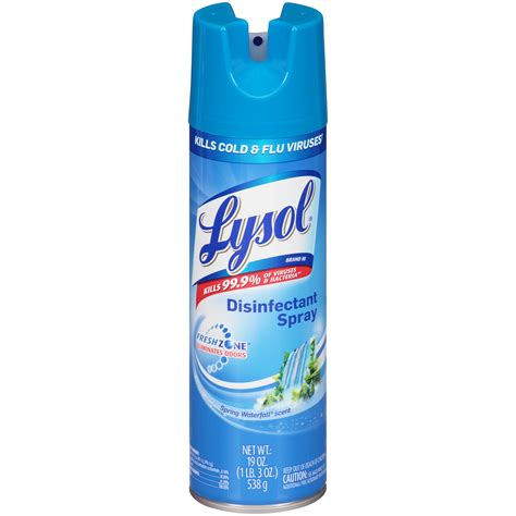 lysol disinfectant spray spring waterfall scent  oz  lb  oz