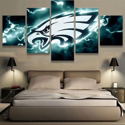 philadelphia eagles fooeball 5 pcs painting canvas wall