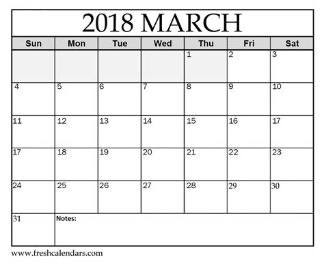march  calendar printable template source template