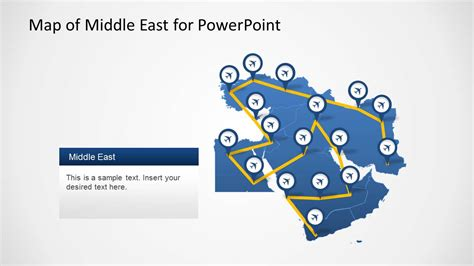 middle east map for powerpoint middle east map template for powerpoint slidemodel