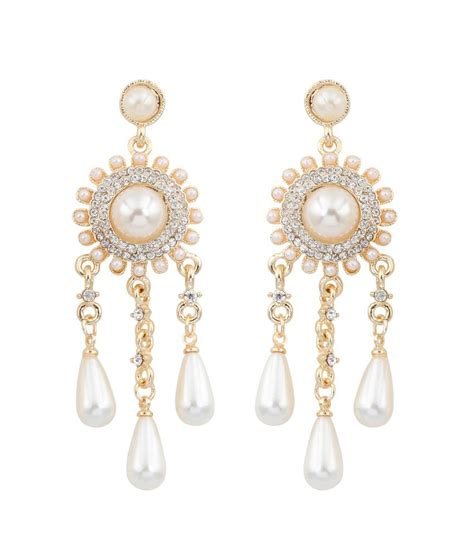 Big Gold Chandelier Earrings Big Tree 18k Gold Plated Pearl Chandelier Earring For Buy Big Tree 18k Gold Plated Pearl