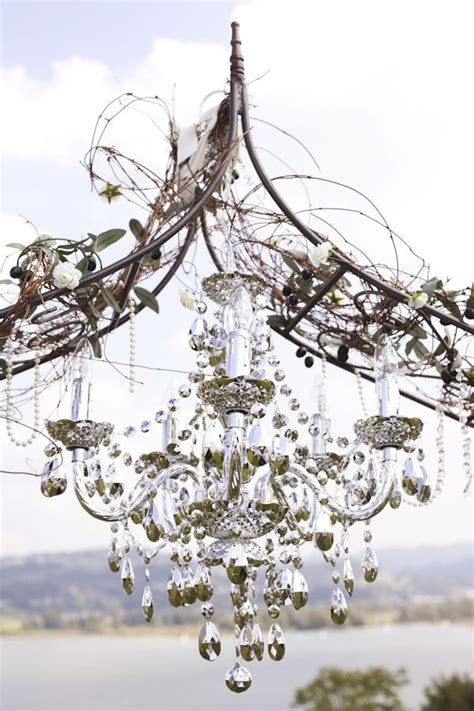 Wedding Arch Chandelier Lavender And Silver Switzerland Wedding