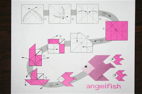 How To Make An Origami Angelfish - pizza pi origami angelfish