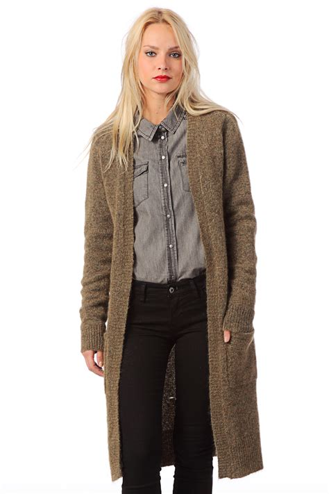 Loong Sweater object collectors item cardigan abigael knit cardigan in brown lyst