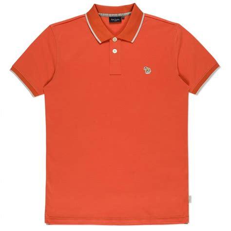 Polo Shirt Logo By Crion paul smith orange zebra logo polo shirt in orange for lyst