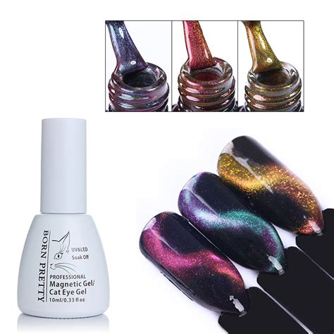 Cat Kuku Nailpro Peel Pink 85 Ml born pretty 10ml 3d cat eye gel chameleon magnetic gel soak uv gel varnish manicure