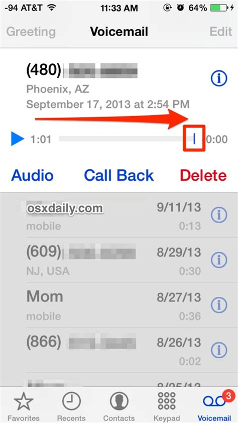 iphone voicemail voicemail as read listened on the iphone without listening to them