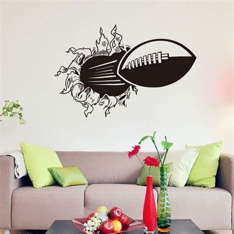 childrens bedroom wall stickers removable new 3d diy rugby vinyl wall stickers for room bedroom vintage poster black adesivo stencils
