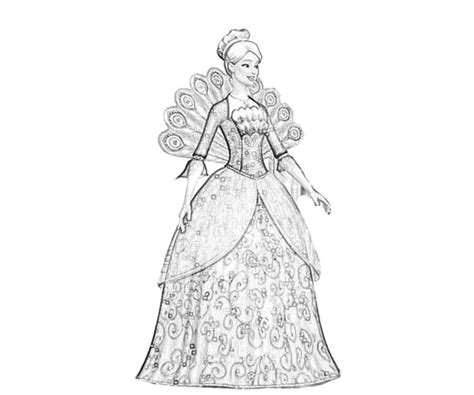 free coloring pages of barbie fashion fairytale