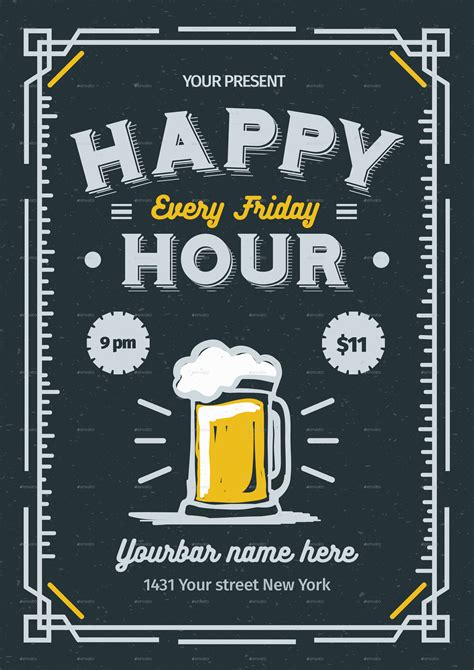 happy hour flyer by lilynthesweetpea graphicriver