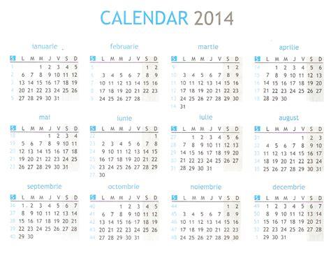 docs calendar template 2014 calendar 2014 in romana de printat pe saptamani excel