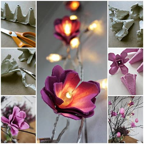 diy flower lights using egg cartons find