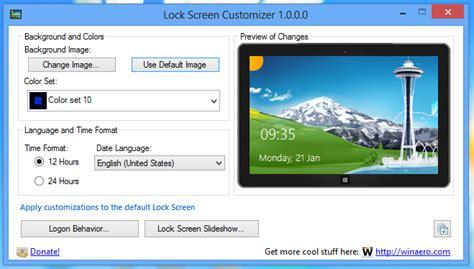 color lock screen lock screen customizer for windows 8 1 and windows 8
