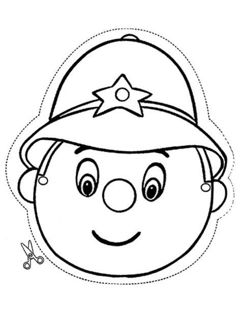 dibujos para colorear de policias cara de policia para recortar pintar y colorear dibujos