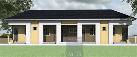 Semi Detached Floor Plans by Contemporary Nigerian Residential Architecture 4 Bedroom