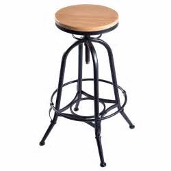 Wood And Metal Bar Stool New Vintage Bar Stool Industrial Metal Design Wood Top Adjustable Height Swivel Free Shipping