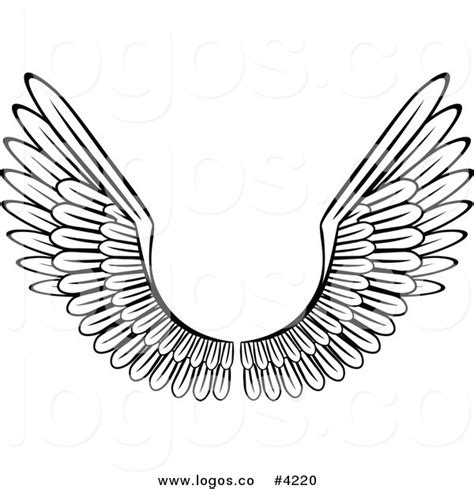 bentley logo black and white royalty free white wings with black outline logo by vector
