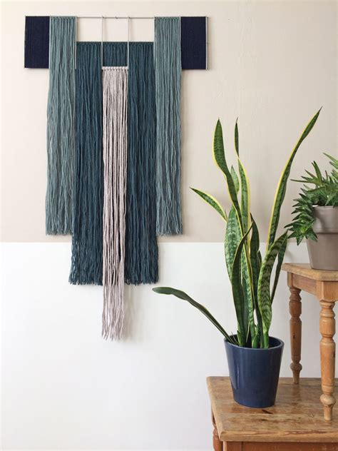 Yarn Plant Hanger - wall hangings with metal grid 183 annienke