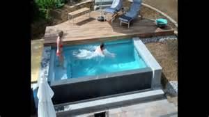 schwimmbadbau dokumentation eines pool im garten im