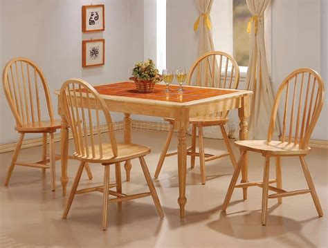 kitchen tables and chairs sets terracotta tile top finish modern 5pc dining set