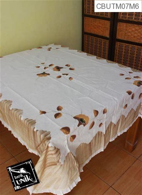 Taplak Meja Tamu Ketapang Persegi taplak meja makan persegi panjang batik motif lukis kupu