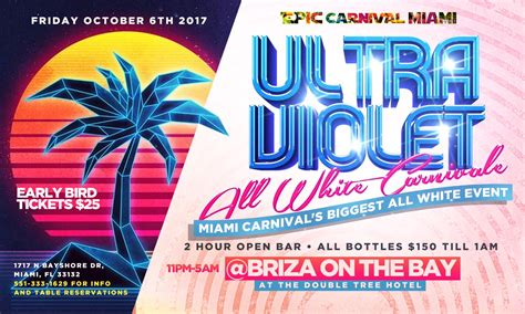 all white boat party nyc 2017 ultra violet all white miami carnival 2017 tickets