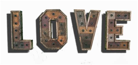 reclaimed wood marquee letters shabby chic salvaged barn any 4 reclaimed wood marquee letters w lights shabby