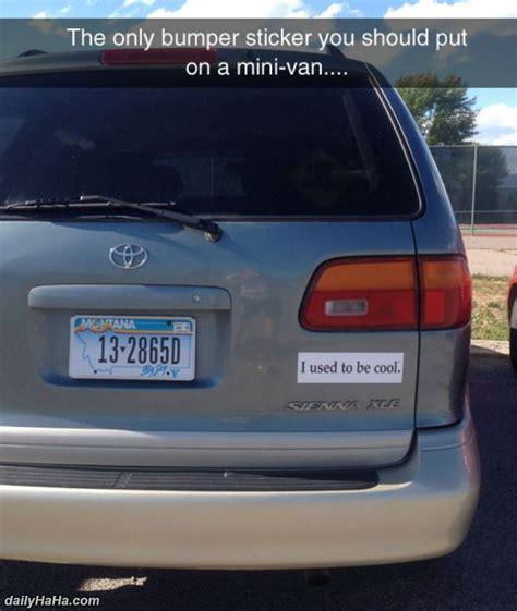 Minivan Bumper Stickers mini bumper sticker