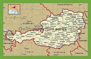 map of cities and towns political map of austria with cities