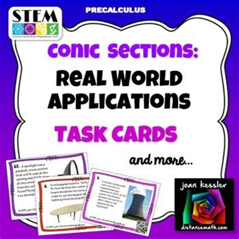 Conic Section Application Problems by 501 Best Images About S T E A M Lessons On