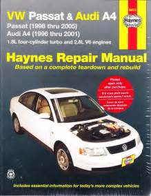 1996 2005 volkswagen passat audi a4 repair manual 2000