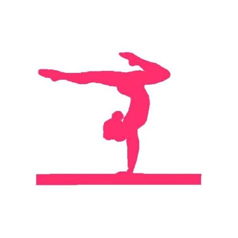 gymnastics clipart gymnastic silhouette decals pink gymnastics silhouette