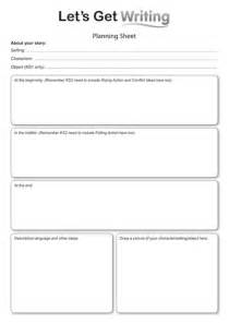 story writing lesson plan planning sheet for ks1 by