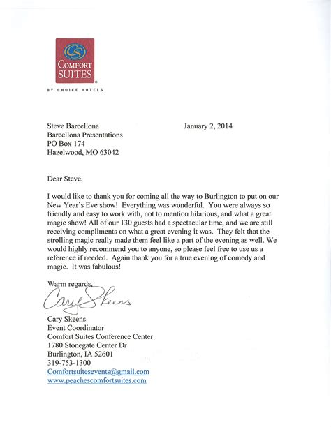 comfort letters fundraising event thank you letter best free home
